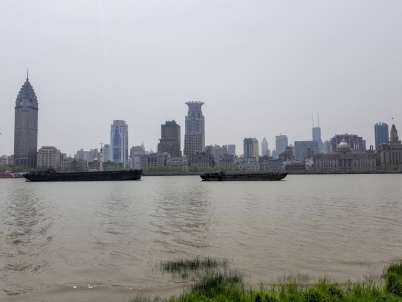 The view of the west side of the Bund