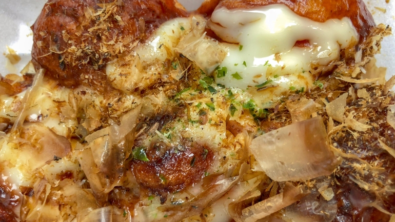 Takoyaki - up close and personal